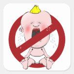 NO CRY BABIES SQUARE STICKER