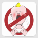 NO CRY BABIES SQUARE STICKERS