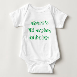 No Crying! Baby Bodysuit