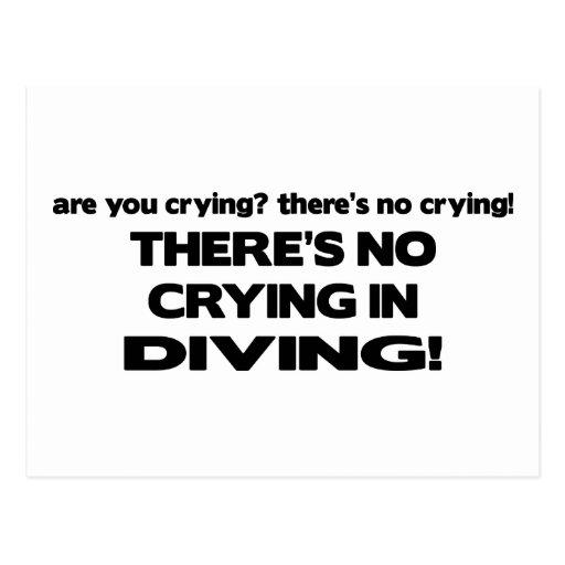 No Crying - Diving Postcard