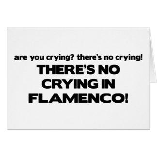 No Crying - Flamenco Card