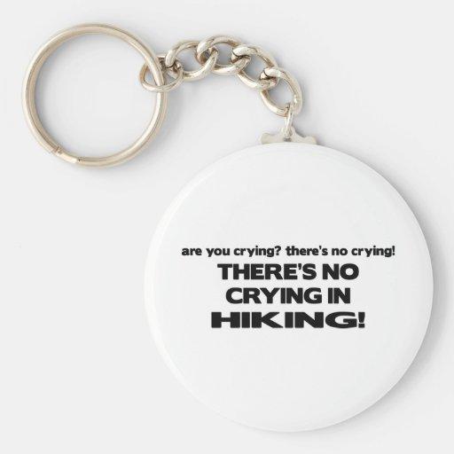 No Crying - Hiking Keychain