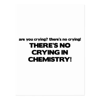 No Crying in Chemistry Postcards