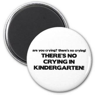 No Crying in Kindergarten 6 Cm Round Magnet