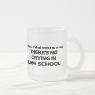 No Crying in Law School Frosted Glass Mug