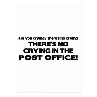 No Crying in the Post Office Postcard