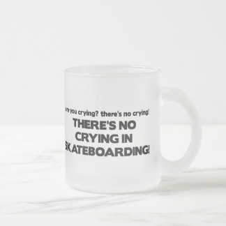 No Crying - Skateboarding Frosted Glass Mug