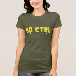 NO CTRL - yellow on army green T-Shirt