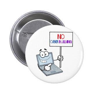 No Cyber Bullying Computer 6 Cm Round Badge