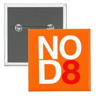 NO D8 15 CM SQUARE BADGE