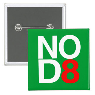 NO D8 - NO DATE 15 CM SQUARE BADGE