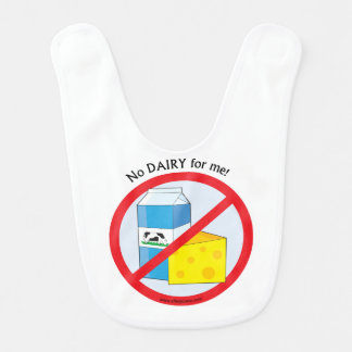 """ No dairy for me"" baby bib"