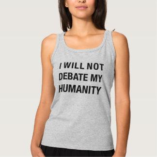 No Debate. (Grey) Singlet