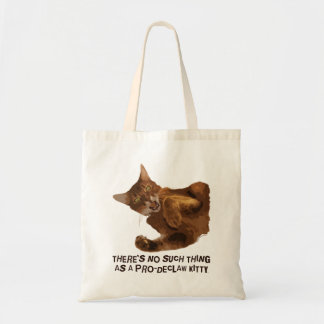 No Declaw Kitty Budget Tote Bag