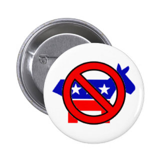 No Democrats 6 Cm Round Badge