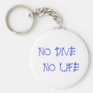 NO DIVE NO LIFE BASIC ROUND BUTTON KEY RING