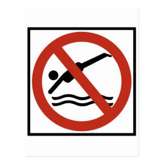 No Diving Highway Sign Postcards
