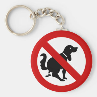 NO Dog Fouling ⚠ Thai Sign ⚠ Basic Round Button Key Ring