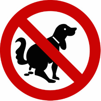 NO Dog Fouling ⚠ Thai Sign ⚠ Standing Photo Sculpture