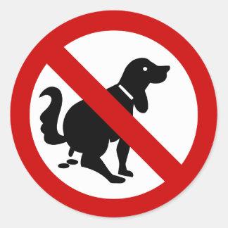 NO Dog Fouling ⚠ Thai Sign ⚠ Round Sticker