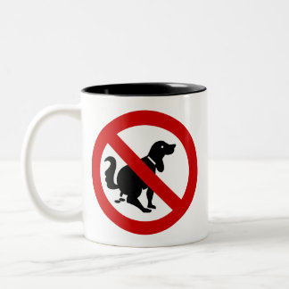 NO Dog Fouling ⚠ Thai Sign ⚠ Two-Tone Mug