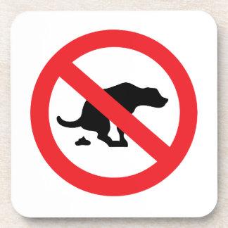 No dog poop sign funny sarcastic coaster