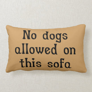 No Dogs Allowed on this Sofa Cushion