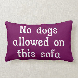 No Dogs Allowed on this Sofa Throw Cushions