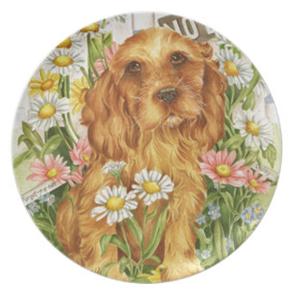 No dogs! dinner plates