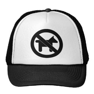 NO DOGS... GRAPHIC PRINT TRUCKER HATS