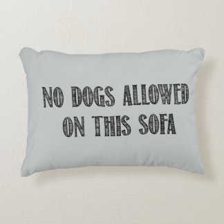 No Dogs Throw Pillow