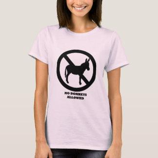 No Donkeys Allowed - Women's Pink T-Shirt