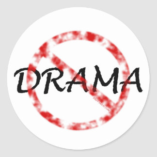 No Drama Classic Round Sticker
