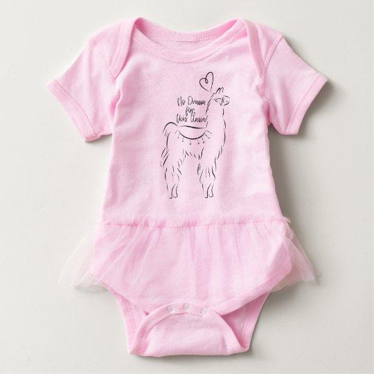 No drama for this llama baby bodysuit