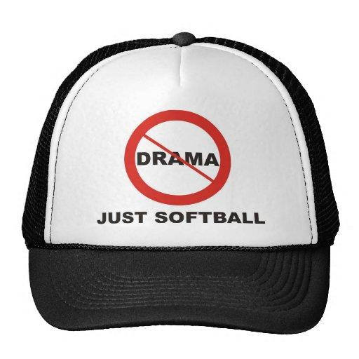 No Drama Just Softball Trucker Hats