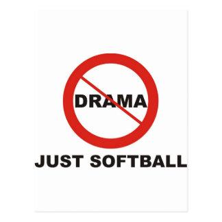 No Drama Just Softball Postcard