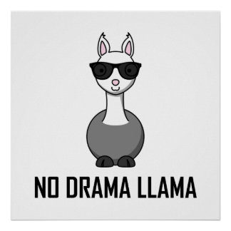 No Drama Llama Sunglasses Poster