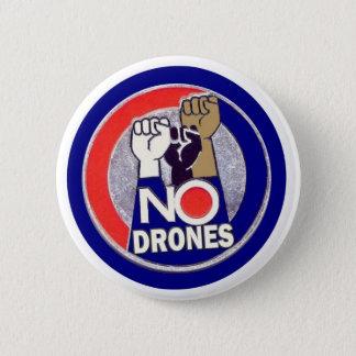 NO DRONES 6 CM ROUND BADGE
