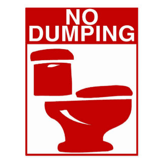 No Dumping Toilet Sign Postcard