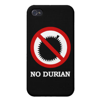 NO Durian Tropical Fruit Sign iPhone 4 Covers