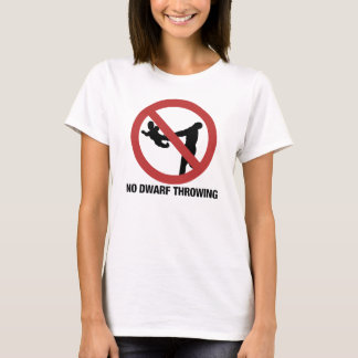 No Dwarf Throwing T-Shirt
