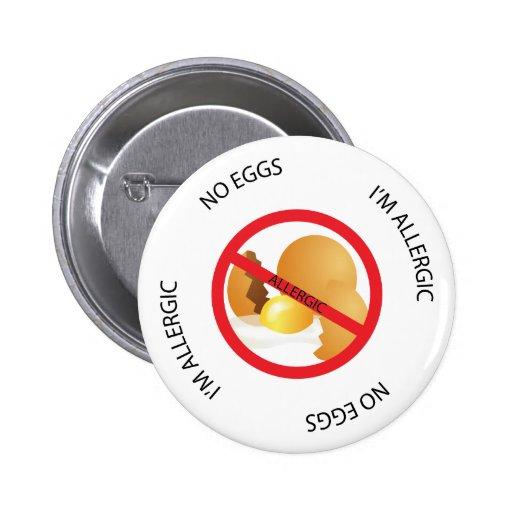 No Eggs Allergy Alert Button