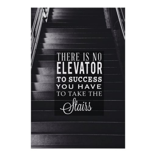 No Elevator to Success Poster