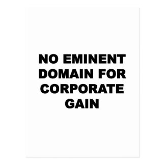 No Eminent Domain for Corporate Gain Postcard