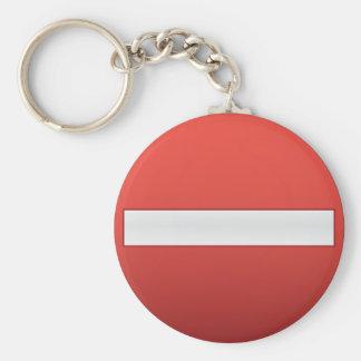 No entry road sign key ring