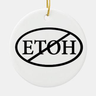 No ETOH Round Ceramic Decoration