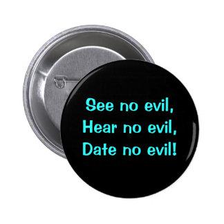 No Evil - Designer Button 2 Inch Round Button