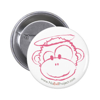 No Evil Monkey Buttons - Pink