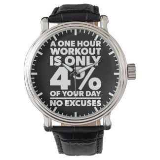 No Excuses - A One Our Workout Is 4% Of Your Day Watch