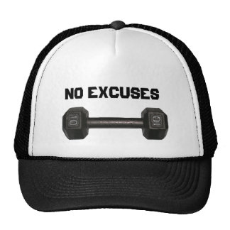 """No Excuses"" Dumbbell Hat"